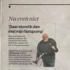 Marcel in de Gelderlander, Nu even Niet!